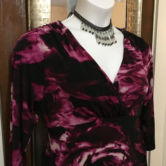 Premise Dresses & Skirts - 📌Lg print violet Floral Dress